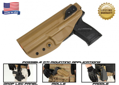 G-Code XST RTI Holster for H&K MK23 ( Left Hand / HOLSTER ONLY ) Coyote