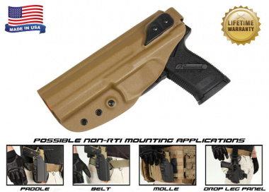 G-Code XST Standard Holster for H&K MK23 ( Non-RTI / Left Hand / HOLSTER ONLY ) Coyote