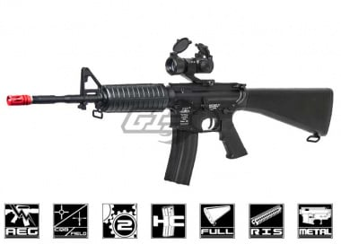 ICS Full Metal M4 Full Stock Carbine AEG Airsoft Gun
