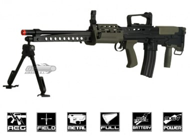 ICS Full Metal L86 A2 AEG Airsoft Gun ( Battery & Charger Package )