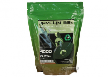 Javelin Airsoft Works .25 g (Biodegradeable) 4000bbs