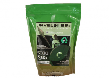 Javelin Airsoft Works .20g 5000 BBs ( Biodegradeable )