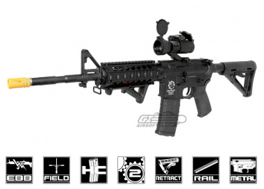 Javelin Airsoft Works Full Metal Javpul M4 RIS Electric BlowBack AEG Airsoft Gun