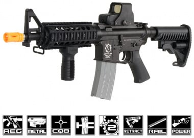 Javelin Airsoft Works Full Metal M4 CQB RIS Electric BlowBack AEG Airsoft Gun