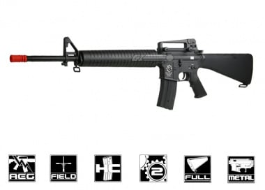 Javelin Airsoft Works Full Metal M16 Battle Rifle AEG Airsoft Gun ( Battery & Charger Package )