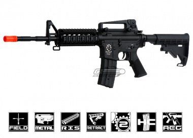 Javelin Airsoft Works Full Metal M4 RIS AEG Airsoft Gun ( Battery & Charger Package )
