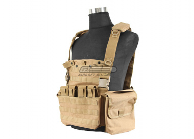 J-Tech 1000D Cordura CP-6 Combat MPS Chest Rig ( Coyote / Tactical Vest  )