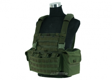 J-Tech 1000D Cordura CP-6 Combat MPS Chest Rig ( OD / Tactical Vest  )