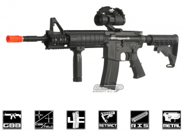 King Arms Full Metal Classic Colt M4 FFS GBB Rifle Airsoft Gun
