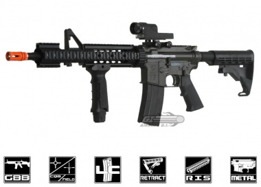 King Arms Full Metal Colt M4 MRE GBB Rifle Airsoft Gun