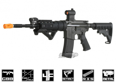 King Arms Colt Full Metal M4 SPC Gas Blowback Carbine Airsoft Gun