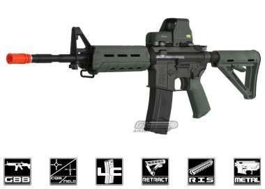King Arms Full Metal Colt M4 MOE GBB Rifle Airsoft Gun ( OD )