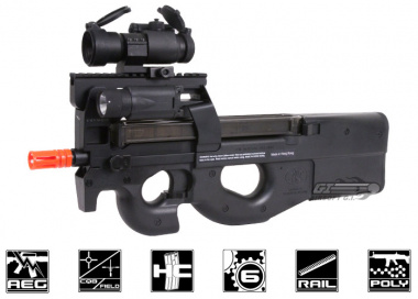FN Herstal P90 Tactical ( by King Arms ) AEG Airsoft Gun