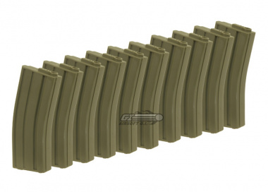King Arms 120rd M4 / M16 Mid Capacity AEG Magazine ( 10 Pack / OD )