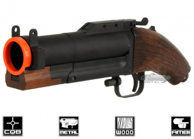 King Arms Metal / Real Wood M79 Sawed-Off Airsoft Grenade Launcher