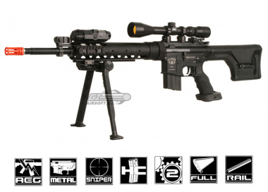 * Discontinued * King Arms Full Metal Blackwater BW15 Sniper AEG Airsoft Gun