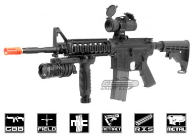 King Arms Colt M4 RIS with GHK GBB Kit Airsoft Gun