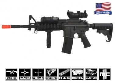 King Arms Full Metal Colt M4 RAS II GBB Rifle Airsoft Gun ( Airsoft GI Custom )