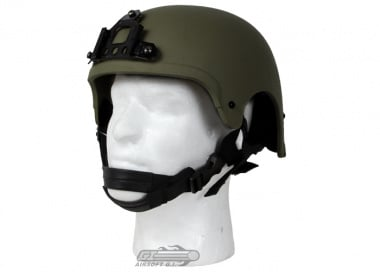 King Arms Mil-Force Professional ( IBH ) Helmet w/ NVG Mount ( OD )