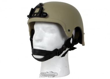 King Arms Mil-Force Professional ( IBH ) Helmet w/ NVG Mount ( Tan )