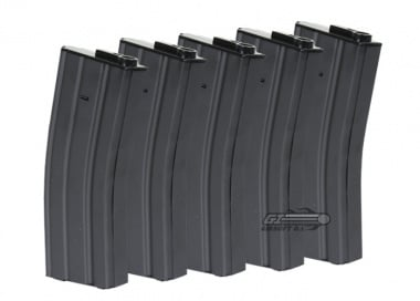 King Arms 120rd M4 / M16 Mid Capacity AEG Magazine ( 5 Pack / Full Metal )