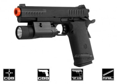 KJ Works Full Metal Tactical 1911 KP08 GBB Airsoft Gun