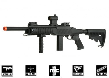 KJW Full Metal Tactical .22 Carbine GBB Rifle Airsoft Gun