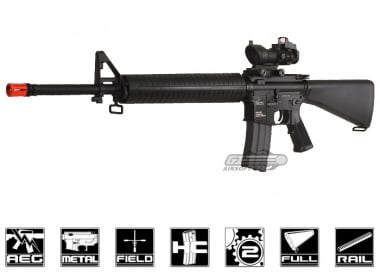 KWA Full Metal M16 Battle Rifle 2GX Airsoft Gun