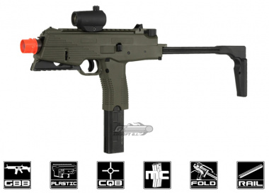 KWA KMP9R Gas Blow Back Airsoft Gun ( Railed Ver. / Ranger Grey / NS2 )