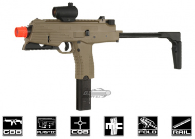 KWA KMP9R Gas Blow Back Airsoft Gun ( Railed Ver. / Dark Earth / NS2 )