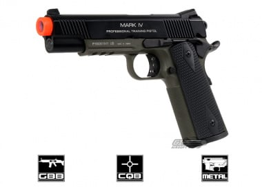 KWA Full Metal M1911 Mark IV PTP Airsoft Gun ( OD )