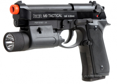 KWA Full Metal M9 Tactical PTP Airsoft Gun