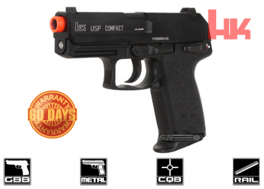 H&K Full Metal USP Compact NS2 GBB Airsoft Gun By KWA