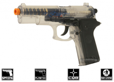 Colt Double Eagle Canadian Legal Spring Pistol w/ Target ( Clear )