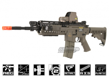 Lancer Tactical M4 S-System AEG Airsoft Gun ( Dark Earth )