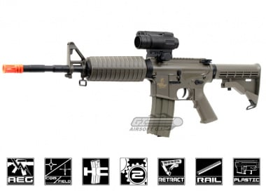 Lancer Tactical M4 A1 Carbine AEG Airsoft Gun ( Dark Earth )