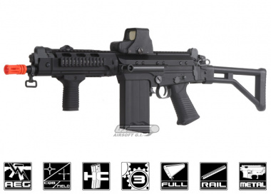 Lancer Tactical Full Metal FAL Tactical AEG Airsoft Gun