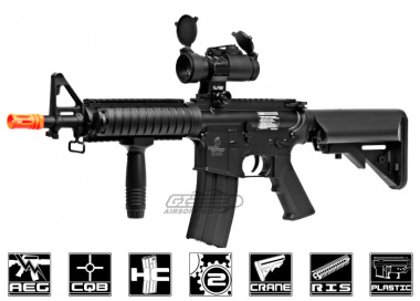 Lancer Tactical M4 CQBR MK18 AEG Airsoft Gun (Under 350 FPS)
