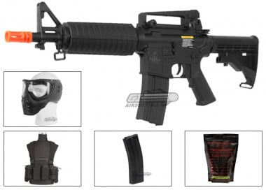 Lancer Tactical M4 CQB AEG Airsoft Gun Starter Package (Platinum)