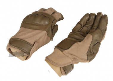 Lancer Tactical Hard Knuckle Gloves ( Tan / Large )