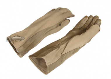 Lancer Tactical Nomex / Leather Flight Gloves ( Tan / X-Large )