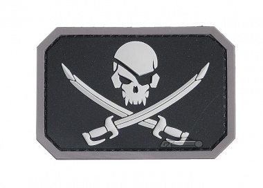 MM Pirate skull PVC Patch ( Swat )