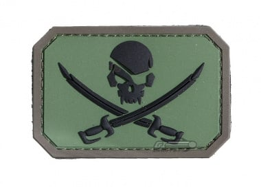 MM Pirate Flag PVC Patch ( Forest )