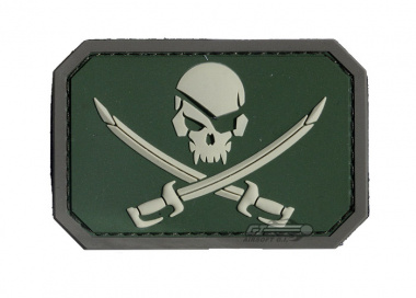 MM Pirate skull PVC Patch ( Multicam )