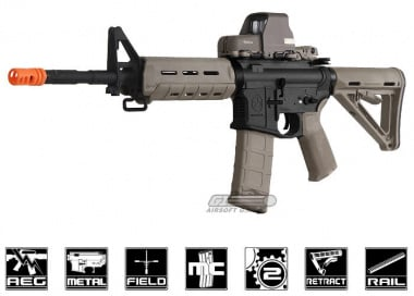 ( Discontinued ) Magpul Full Metal MOE Carbine AEG Airsoft Gun ( 2-tone / Black Receiver )