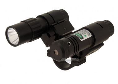 "NC Star 1"" Scope Mount Flashlight & Green Laser Set"