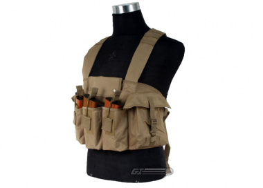 NC Star Magazine Chest Rig ( Tan / Tactical Vest  )