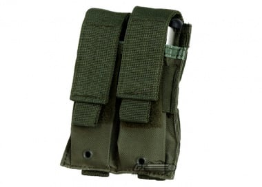 NC Star MOLLE Double Pistol Magazine Pouch ( OD )