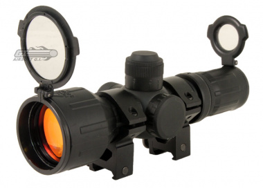 NC Star 3-9x42RE Rubberized Scope ( Red / Green Illuminated )