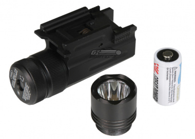 NC Star Compact Flashlight / Green Laser w/ Quick Release Weaver Mount